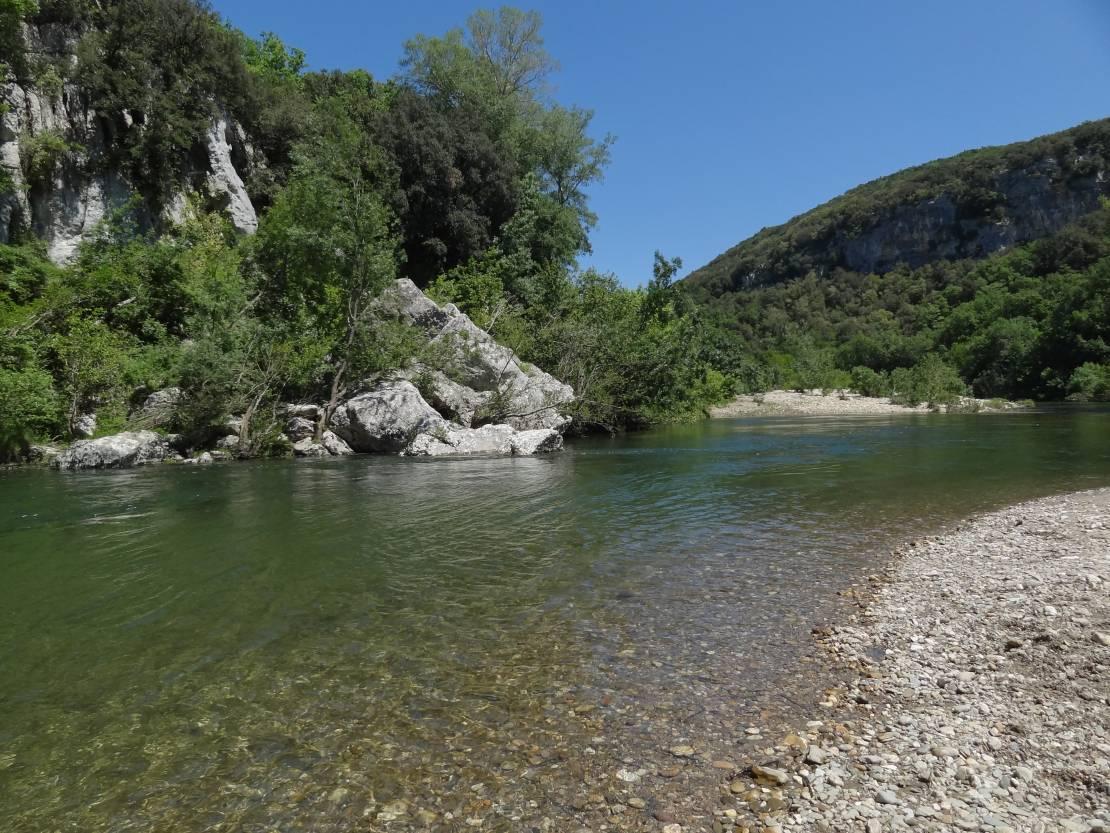 La Cèze nabij Les Baux