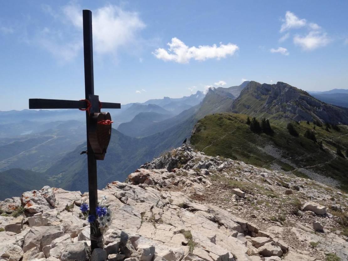 Kruis op top Pic St. Michel